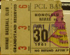 1961 PCL Padres at Islanders ticket stub