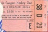 1961 Spokane Indians vs Montreal Canadiens ticket stub