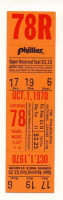 1970 Expos at Phillies ticket stub