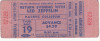 1971 Led Zeppelin Vancouver ticket stub