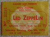 1973 Led Zeppelin Tampa Stadium ticket stub