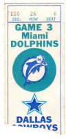 1973 NFL Cowboys at Dolphins