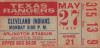 1974 Indians at Rangers ticket stub