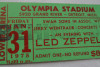 1975 Led Zeppelin Detroit ticket stub