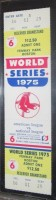 1975 World Series Game 6 unused ticket Reds at Red Sox Carlton Fisk