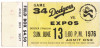 1976 Expos at Dodgers
