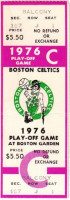1976 NBA Playoffs Braves at Celtics ticket stub