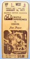 1977 Celtics at Supersonics ticket stub