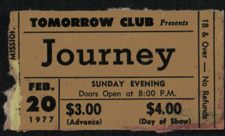1977 Journey Youngstown ticket stub 12.50