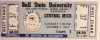 1977 NCAAF Central Michigan at Ball State ticket stub