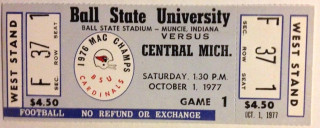 1977 NCAAF Central Michigan at Ball State