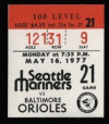 1977 Orioles at Mariners