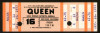 1977 Queen San Diego Sports Arena full ticket