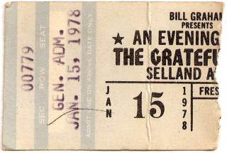 1978 Johnny Cash ticket stub from Selland Arena in Fresno
