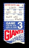 1978 NFL 49ers at Giants ticket stub