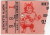 1979 NCAAF Bowling Green at Northern Illinois ticket stub