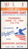1980 Astros at Dodgers Opening Day