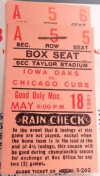 1981 Chicago Cubs at Iowa Oaks ticket stub