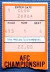 1982 AFC Championship Freezer Bowl Chargers at Bengals ticket stub