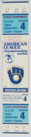 1982 ALCS Gm 4 Angels at Brewers ticket stub