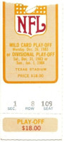 1983 NFL Wild Card Game ticket stub Rams vs Cowboys