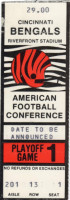 1988 AFC Playoffs Seahawks at Bengals