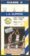 1989 NBA Los Angeles Clippers at Golden State Warriors ticket stub