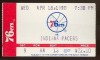 1990 NBA Pacers at 76ers ticket stub