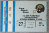 1990 NCAAF Cal State Fullerton at Long Beach State ticket stub