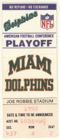 1991 AFC Wild Card Game ticket stub Chiefs vs Dolphins