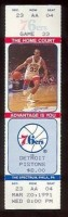 1991 NBA Pistons at 76ers ticket stub