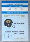 1991 NCAAF UOP at Long Beach State ticket stub