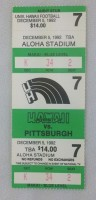 1992 NCAAF Pittsburgh at Hawaii ticket stub