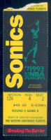 1993 NBA Playoffs Suns at Supersonics ticket stub