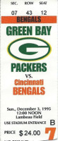 1995 Bengals at Packers ticket stub