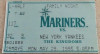 1995 Yankees at Mariners Jeter's 1st Game ticket stub