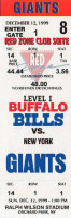 1999 Giants at Bills ticket stub