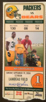 2004 Bears at Packers ticket stub