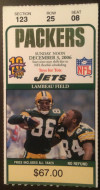 2006 Jets at Packers ticket stub