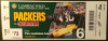 2009 49ers at Packers ticket stub
