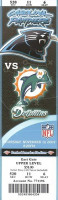 2009 NFL Dolphins at Panthers ticket stub