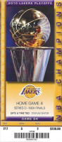 2010 NBA Finals Gm 7 Lakers vs Celtics ticket stub