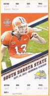 2011 NCAAF South Dakota State at Illinois ticket stub