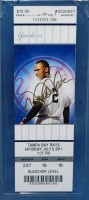 2011 Rays at Yankees Jeter's 3000th hit autographed