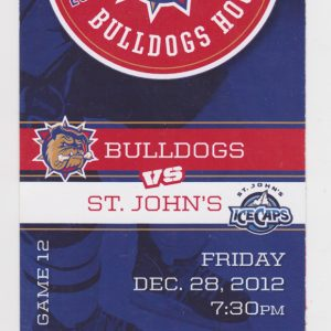 2012 Hamilton Bulldogs ticket stub vs IceCaps for sale