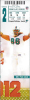 2012 NFL Falcons at Dolphins ticket stub