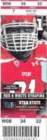 2013 NCAAF Utah State at Utah ticket stub
