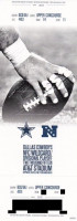 2014 NFL Wild Card Lions at Cowboys ticket stub