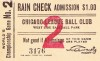1906 World Series Game 3 Chicago White Sox at Chicago Cubs ticket stub