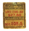 1923 Boxing Dempsey vs Firpo ticket stub